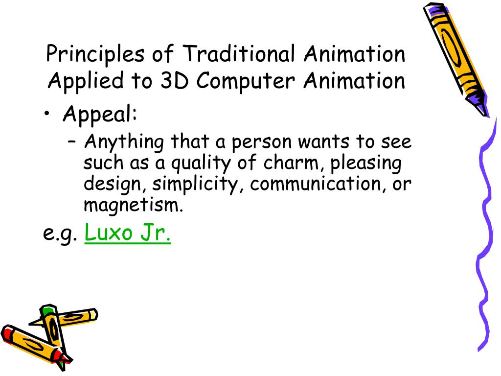 Principles of Traditional Animation Applied to 3D Computer Animation