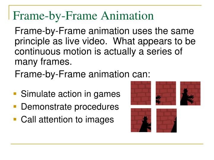 Frame by frame animation