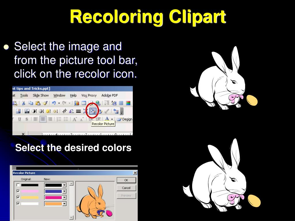 Recoloring Clipart