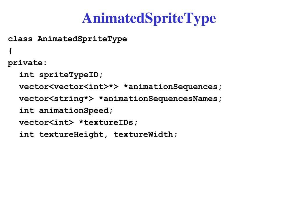 AnimatedSpriteType