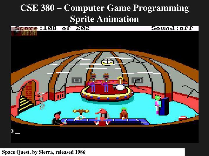 Cse 380 computer game programming sprite animation l.jpg