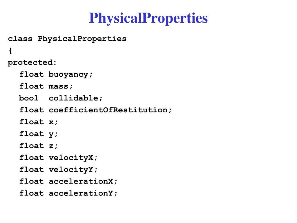 PhysicalProperties