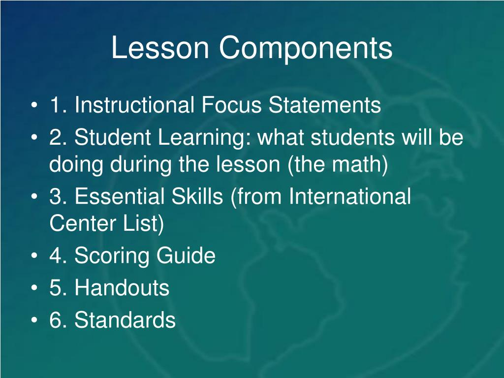 Lesson Components