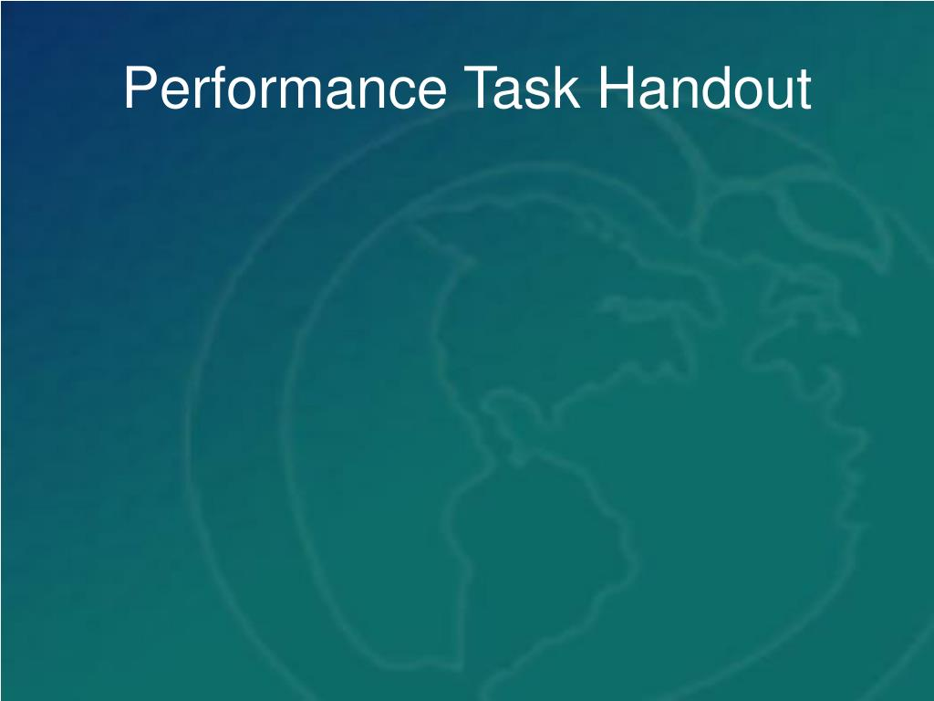 Performance Task Handout