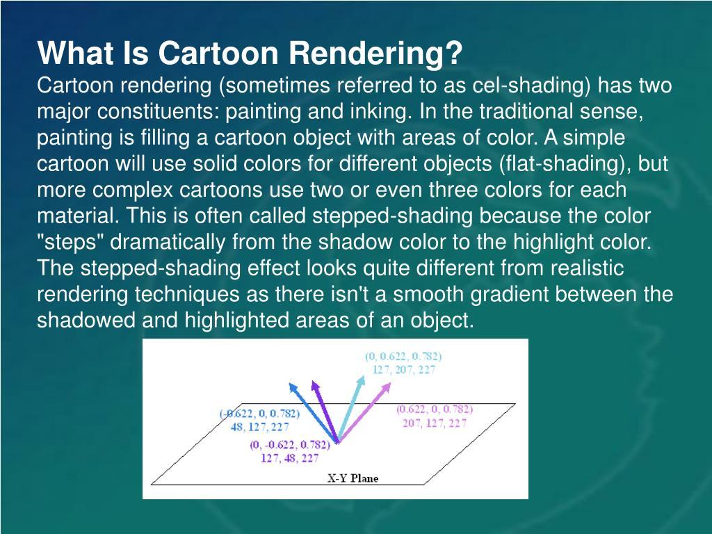 What Is Cartoon Rendering?