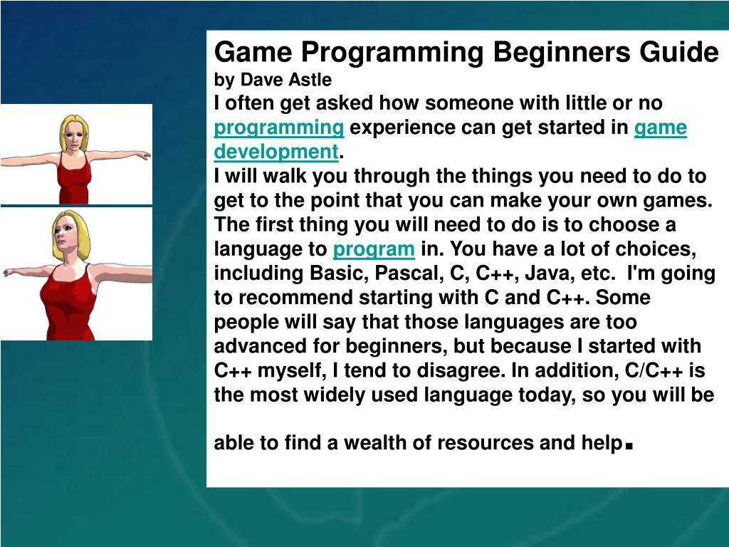 Game Programming Beginners Guide