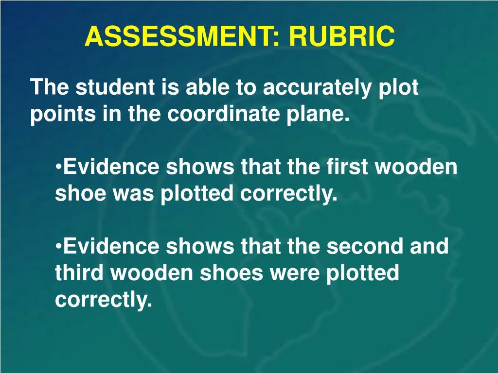ASSESSMENT: RUBRIC