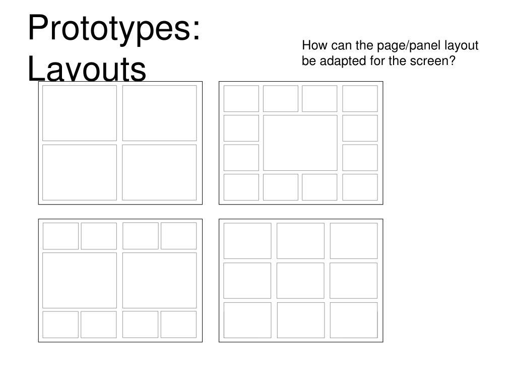 Prototypes: Layouts