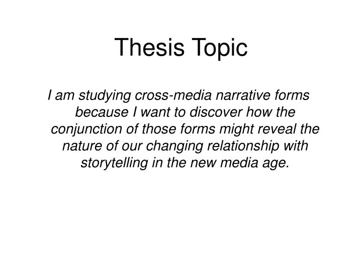 Thesis topic