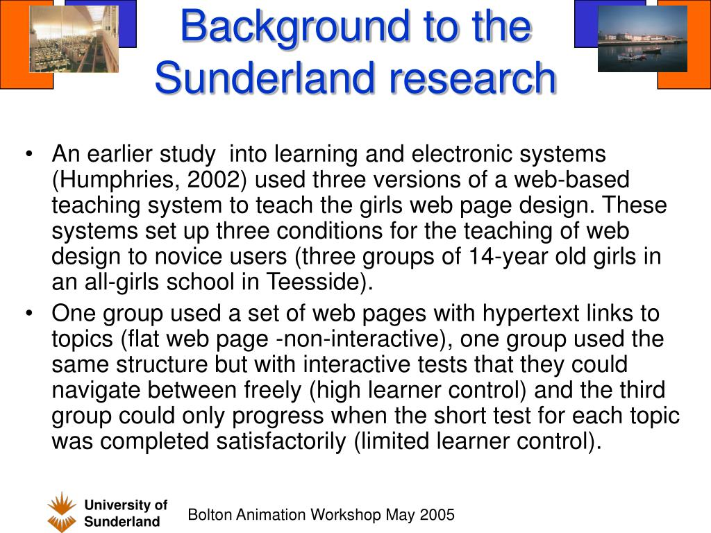 Background to the Sunderland research
