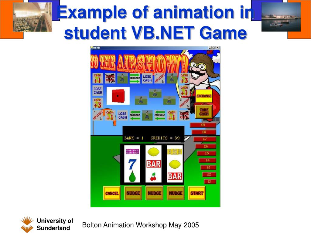 Example of animation in student VB.NET Game