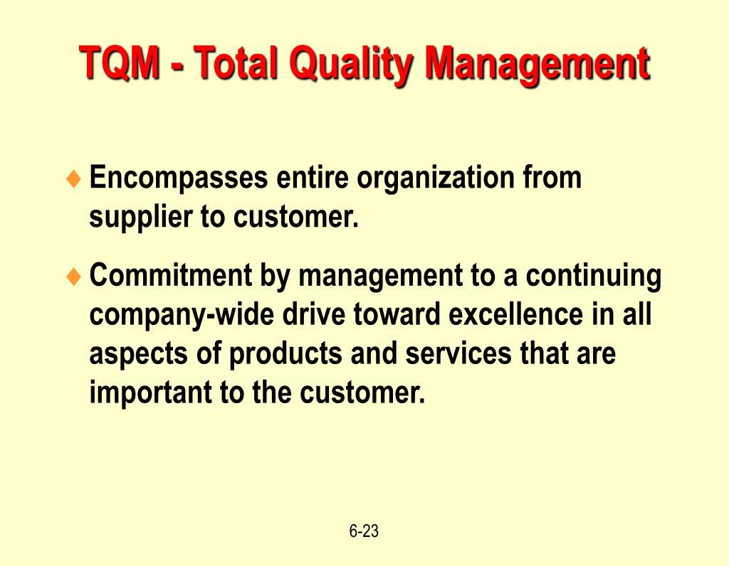 TQM - Total Quality Management