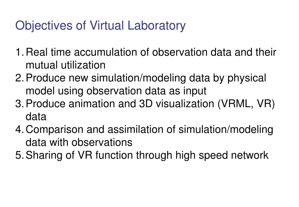 Objectives of Virtual Laboratory