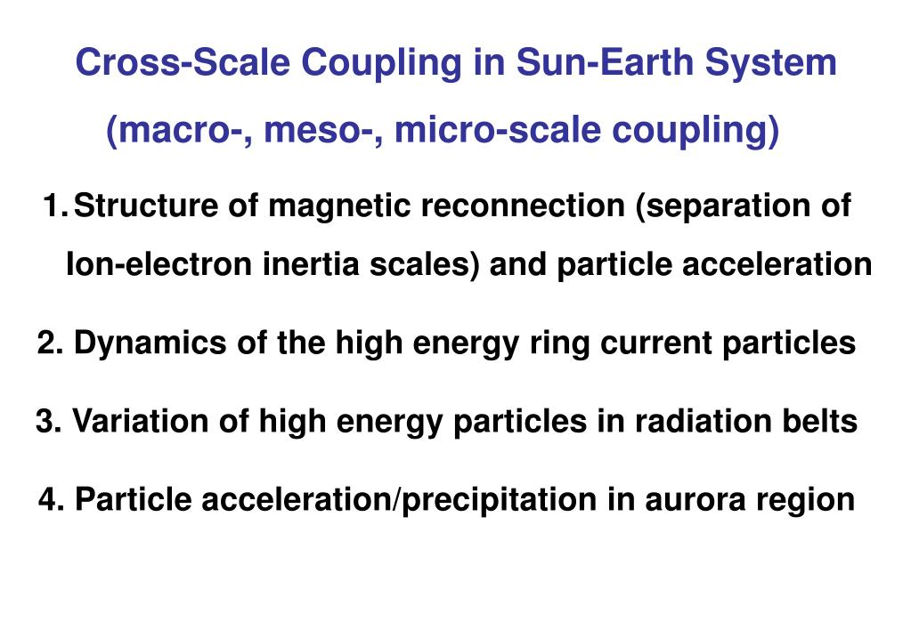 Cross-Scale Coupling in Sun-Earth System