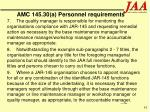 amc 145 30 a personnel requirements61