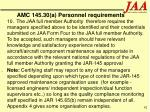 amc 145 30 a personnel requirements62