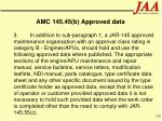 amc 145 45 b approved data119
