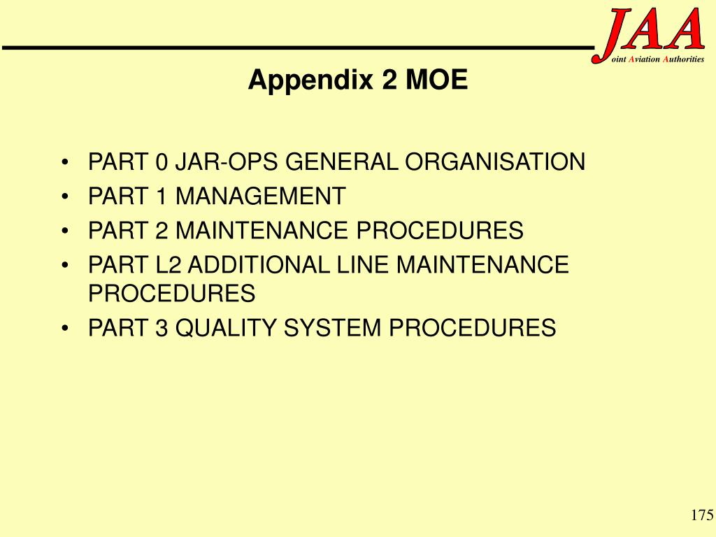 Appendix 2 MOE