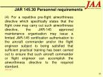 jar 145 30 personnel requirements85