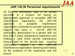 jar 145 30 personnel requirements86