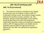 jar 145 35 certifying staff95