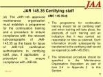 jar 145 35 certifying staff96