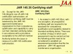 jar 145 35 certifying staff97