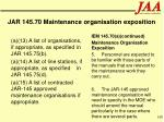 jar 145 70 maintenance organisation exposition168