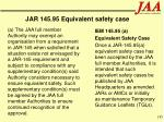 jar 145 95 equivalent safety case