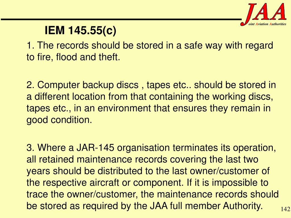 IEM 145.55(c)