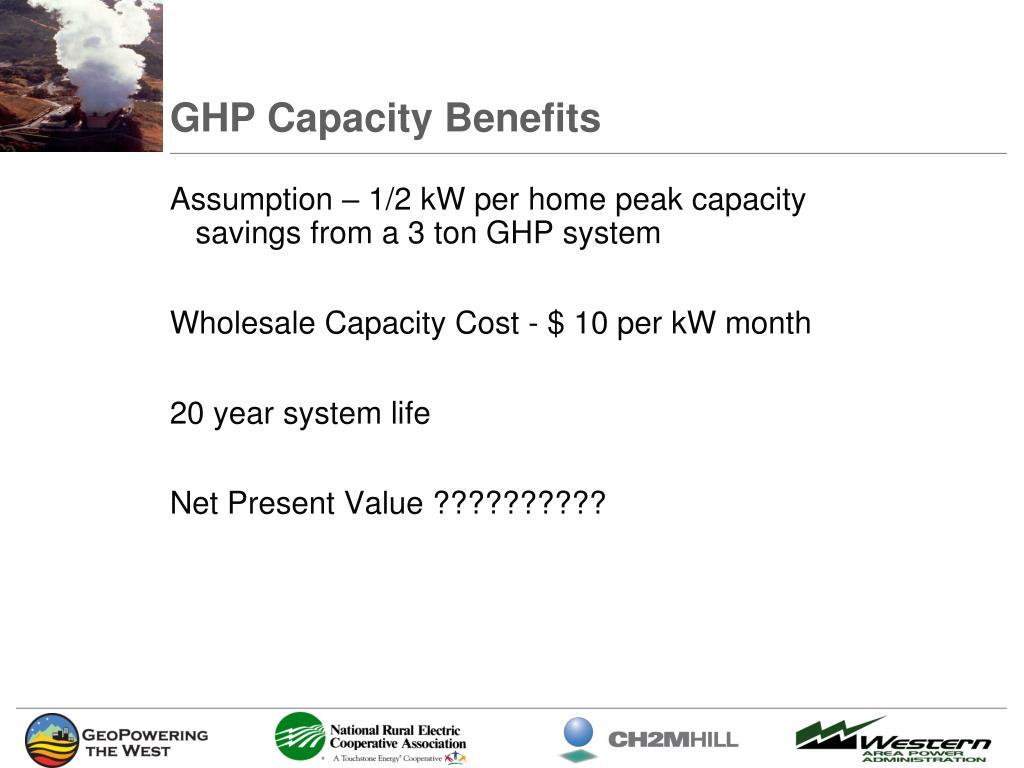 GHP Capacity Benefits