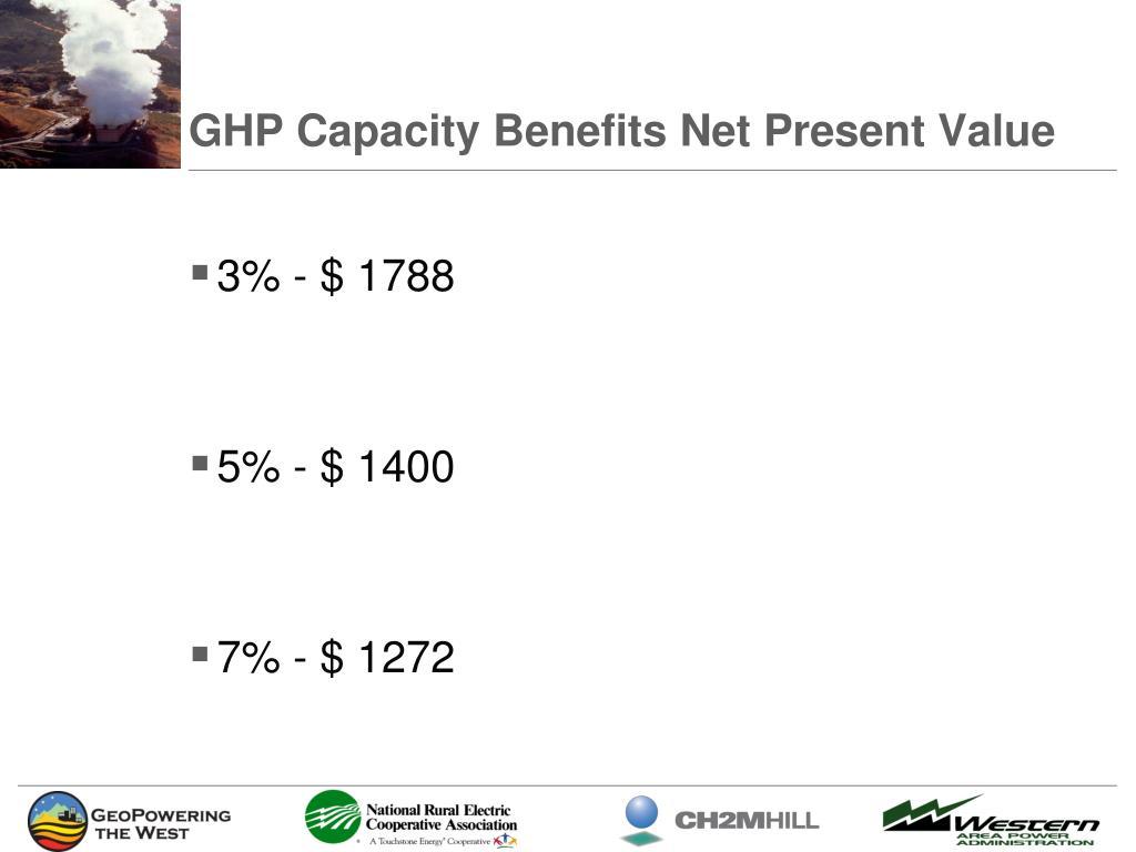 GHP Capacity Benefits Net Present Value