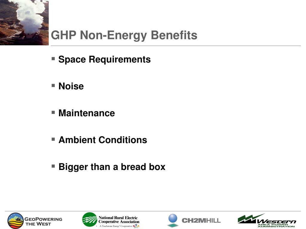 GHP Non-Energy Benefits