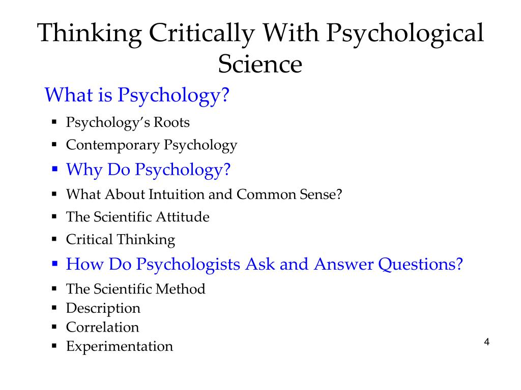 Science Critical Thinking