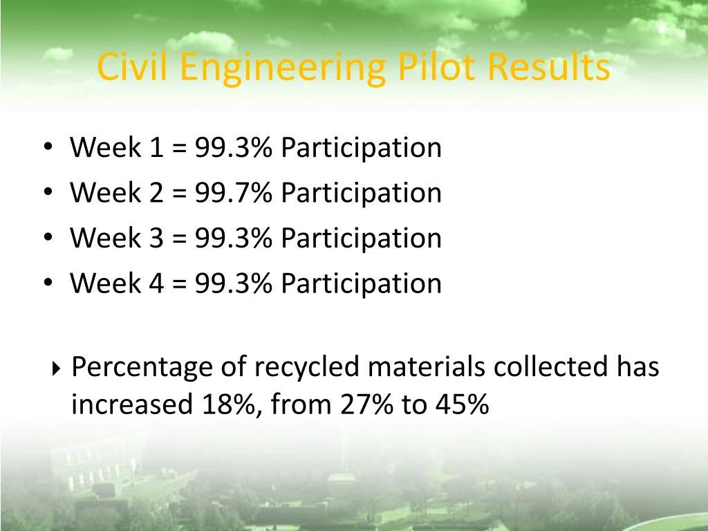 Civil Engineering Pilot Results