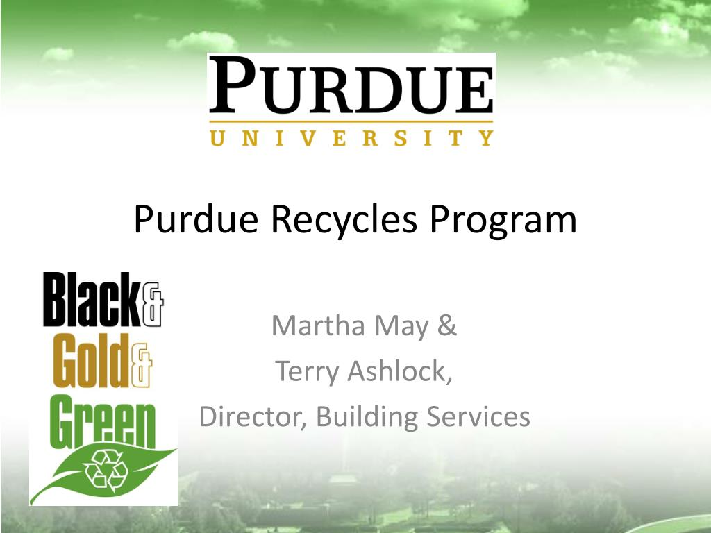 Purdue Recycles Program