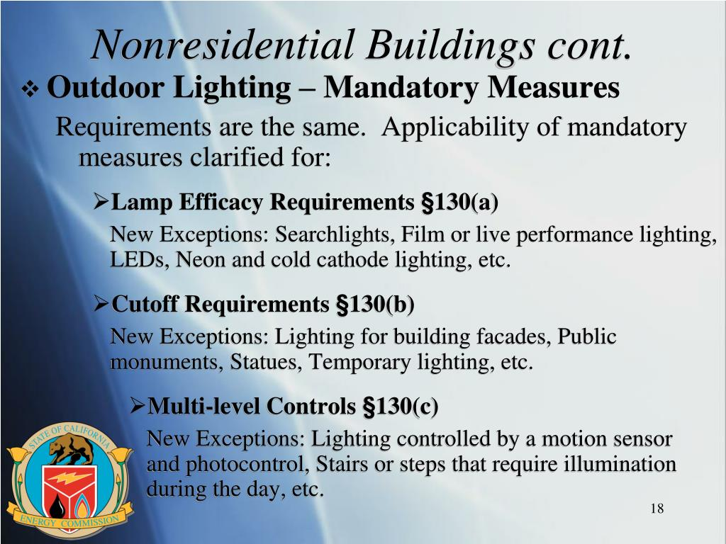 Nonresidential Buildings cont.