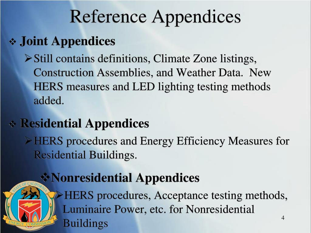 Reference Appendices