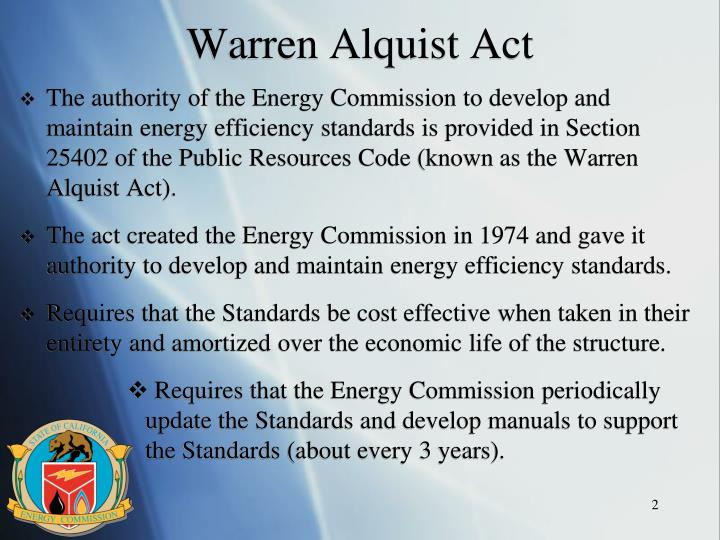 Warren alquist act
