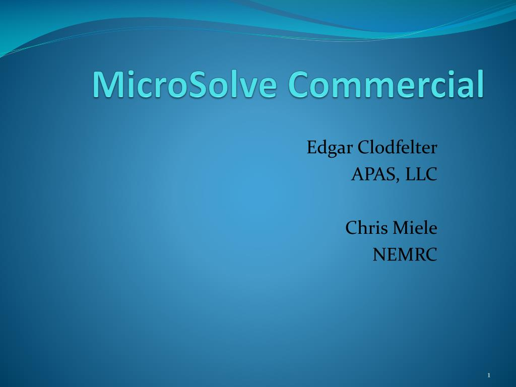 MicroSolve Commercial