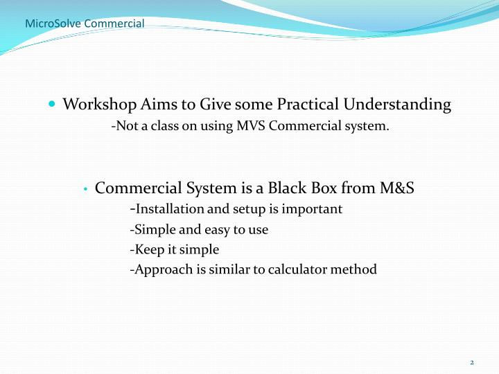 Microsolve commercial2