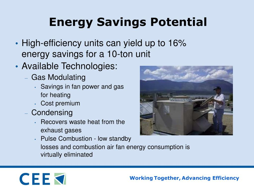 Energy Savings Potential