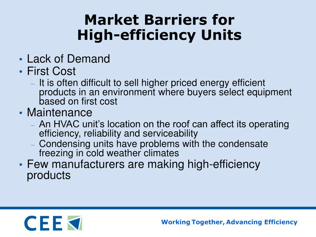 Market Barriers for