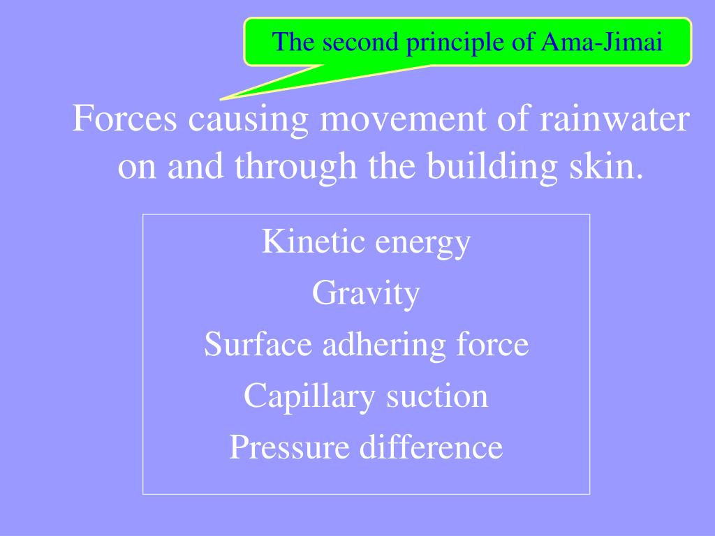 The second principle of Ama-Jimai