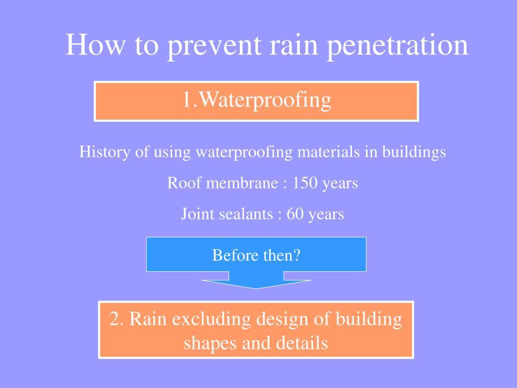 1.Waterproofing