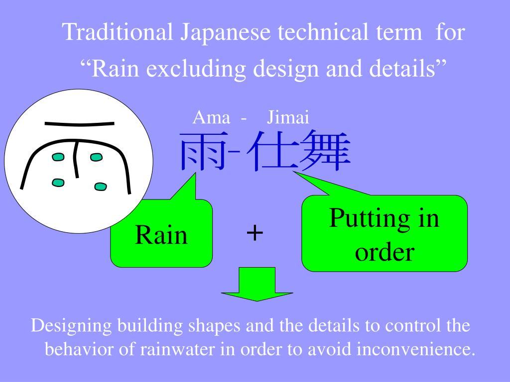 Traditional Japanese technical term  for