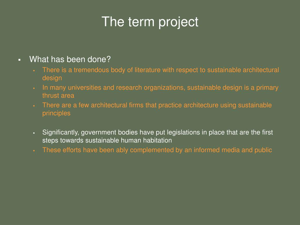 The term project