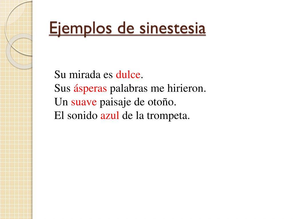 Ejemplos de sinestesia