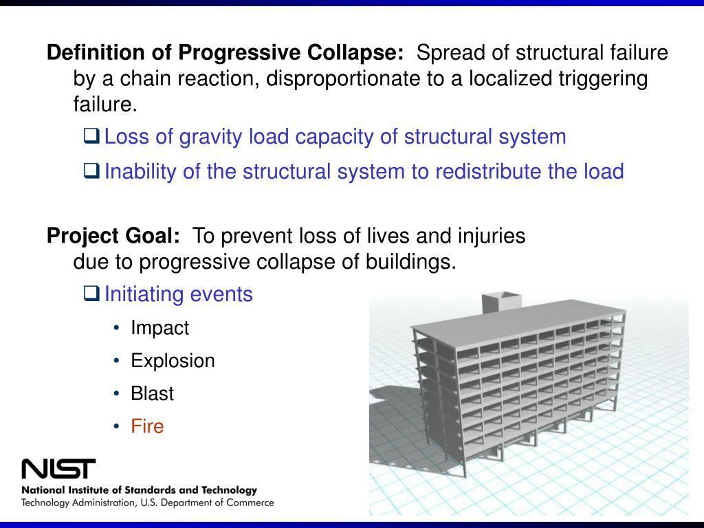 Definition of Progressive Collapse: