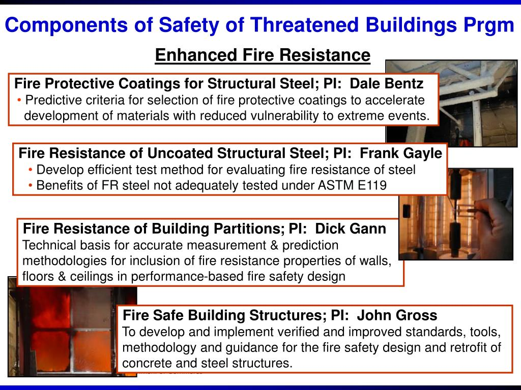 Components of Safety of Threatened Buildings Prgm